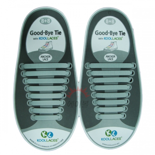 쿨레이스 실리콘 신발끈(그레이)