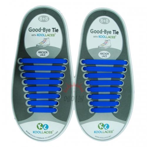 쿨레이스 실리콘 신발끈(블루)
