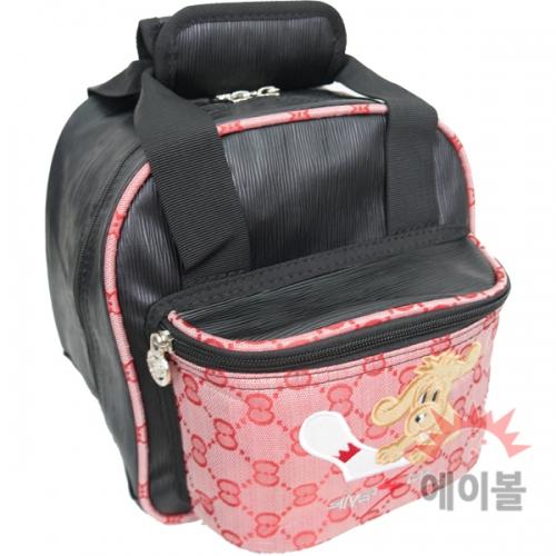 강아지캐릭터 1볼미니백(핑크)